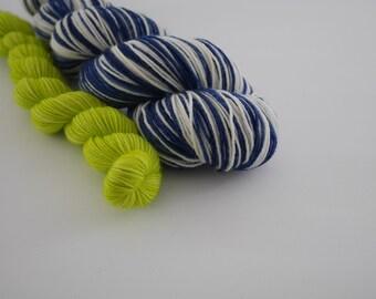 LOVE SOCK self-striping, Plouf & Annie , merino nylon sock yarn,100g