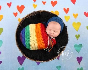 Rainbow Baby/ Swaddle Sack/ Rainbow Swaddle Sack/ Baby Shower Gift/ Gender Neutral Prop/ Rainbow Baby Shower/ Rainbow Nursery