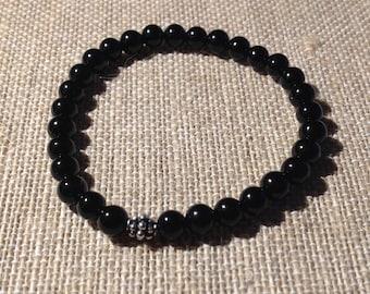 6mm Onyx stretch bracelet