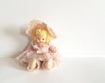 Vintage Krueger Oil Cloth Doll