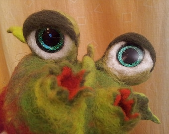 Dragon, puppet, Felt Dragon