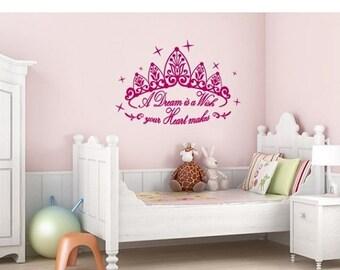 20% OFF Summer Sale A Dream is a Wish wall decal, sticker, mural, vinyl wall art