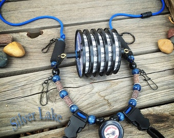 """All New! """"Silver Lake"""" Fly Fishing Lanyard by Golden Trout Lanyards"""