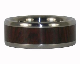 Camatillo Wood Titanium Ring