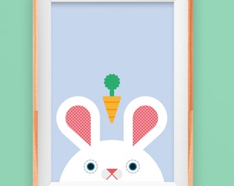 Bunny Rabbit - Carrot! - A4 size
