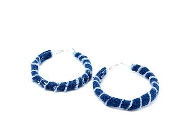 Statement Earrings | Handmade Earrings | Fabric Jewelry | Fabric Earrings | Earrings | Hoop Earrings