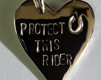 JM605SS Protect this Rider Pendant
