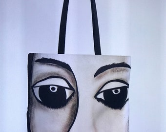 The Face in Black and White- Designer Tote