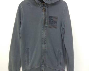Vintage Barbour international steve Mcqueen zipper hooded printed/faded grey colour/Medium size