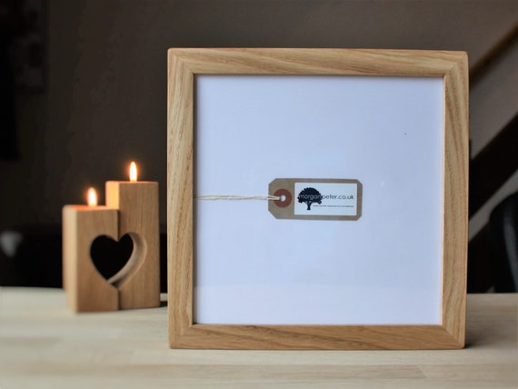 8x8 Oak photo frames - 8 inch square wooden picture frames from ...