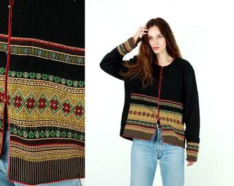 Vintage Banjara Jacket / Traditional Jacket / Gypsy Jacket / Boho Jacket / Thai / India Jacket / Folk Embroidered Jacket / Cotton / Size L