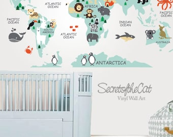Nursery wall decal wall decal nursery world map decal world map decal map decal world map children wall decal map wall decal world decal nursery decal map gumiabroncs Image collections