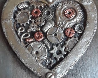 steampunk heart box,gear heart box