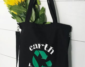 Earth Day Canvas Tote Bag, Satchel, Tote, Women's Purse, Backpack, Messenger Bag, Recycle, Earth Day, Earth Warrior, Reusable Bag, Handbag