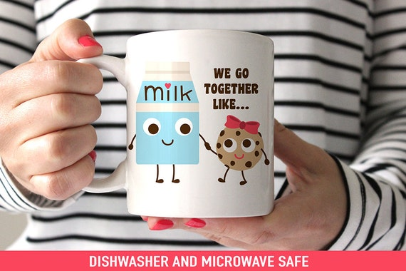 Coffee Mug Best Friends We Go Together Like Milk and Cookies Coffee Cup - Cute Best Friends Mug