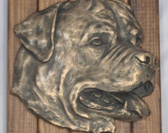 ROTTWEILER - unique relief on the wood