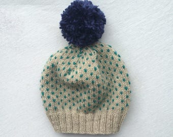 Teal Speckle Hat