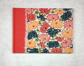 Unique Guest Book - Wedding Guest Book,Memorial Guest Book,Custom Guest Book, Rustic Guest Book ,Wedding Guestbook in Orange Desert Flowers