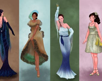Original Anime Manga Art - The Betta Dresses Bookmark Collection