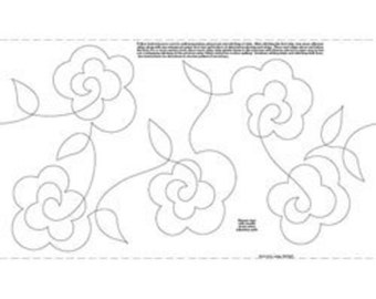"9.25"" Roses Stipples Made Easy Pattern"