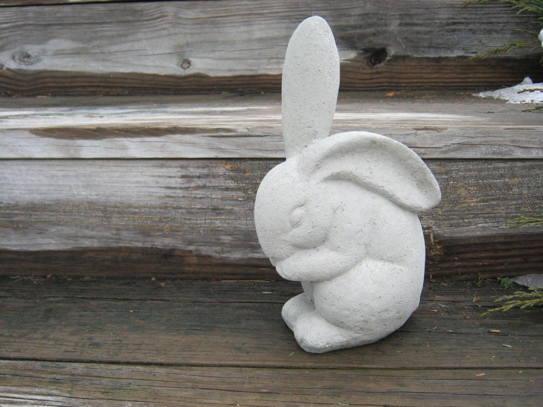 Rabbit Statue, Concrete Garden Rabbits, Garden Decor, Cement Rabbit Statue,  Bunny Statue