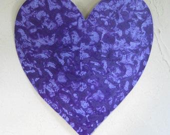 Metal wall art heart sculpture decor deep purple lavender heart Valentine reclaimed metal wall hanging wedding anniversary 11 x 12