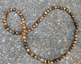 Tiger Eye 8MM Beaded Necklace