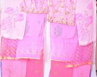 Boho Gypsy Sari Curtains  Boho Decor  Upcylced  Bohemian Gypsy Curtains saree sarees C328