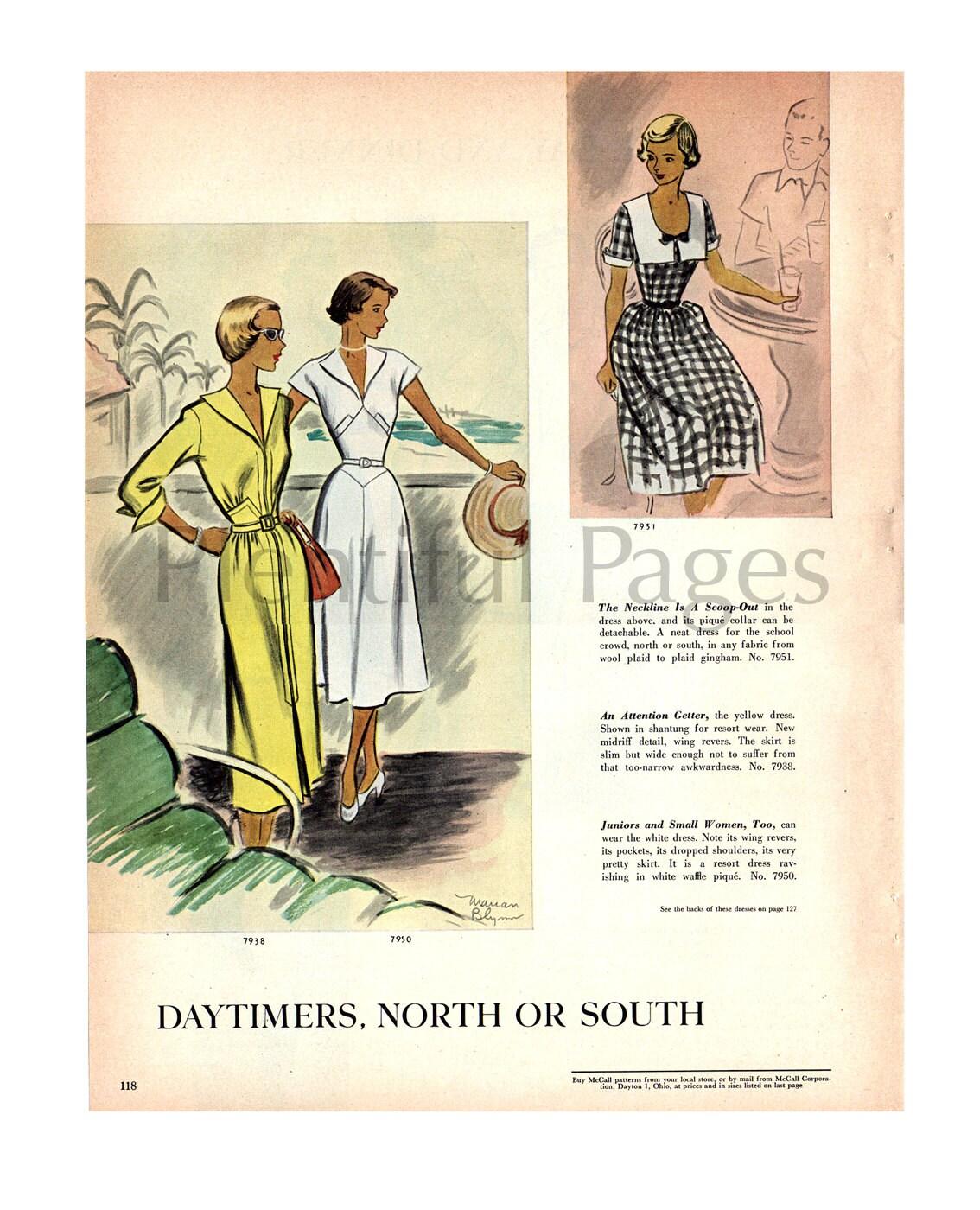 50er Jahre Muster McCall\'s Nähen Jahrgang Ad mit