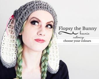 Adult Sizes Crochet Bunny Hat Bunny Ears Beanie