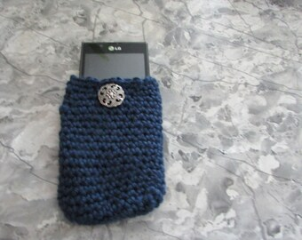 Cell phone holders with button closure in 5 colors
