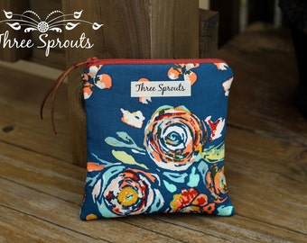 Essential Oil Bag, Essential Oil Pouch, Roller Bottle Bag -Flora