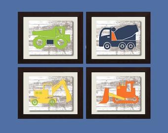 Construction Truck Wall Art, Dump Truck Wall Art Boy Room Wall Art, Playroom Sign, Construction Truck, Kids Wall Print, Playroom Wall Art