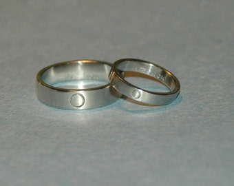 Anniversary Rings Sterling Silver Eternity Band Set, Promise rings, Commitment, Wedding