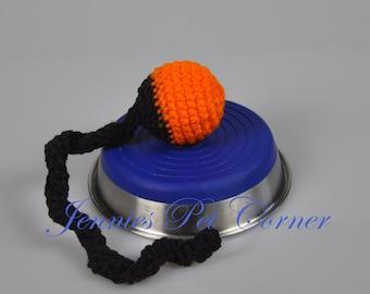 Black Orange Team Colors Crochet Cat Toys - Cat Balls Bells - Cat Gift - Kitty Jingle Snake