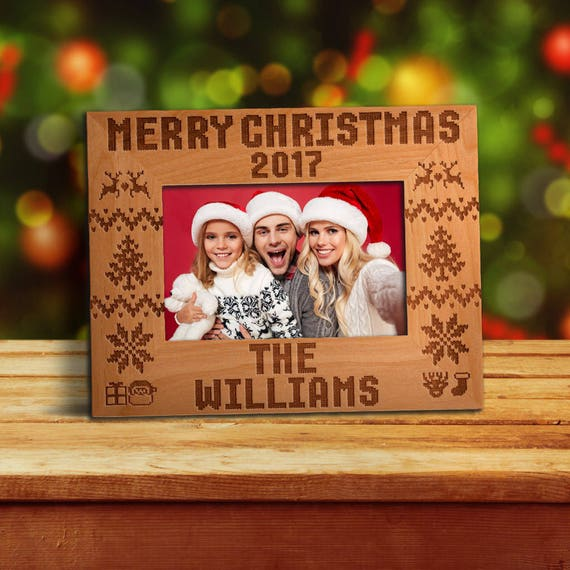 p lab personalized photo frame for christmas merry christmas engraved photo frame 4x6 5x7 8x10 christmas gift family picture frame 1 from