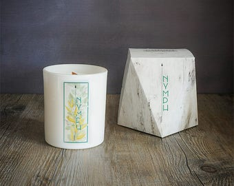 Nymph - Herbaceous Scented Soy Candle - Black Arrow Candles Mythology Range - Greenery Candle