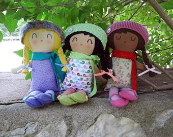 Fiona Doll, custom made doll,   cloth doll  rag doll,  birthday gift, custom doll