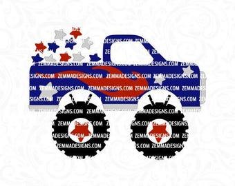 memorial day svg, 4th of july svg, july 4th svg, star svg, Monster truck svg, boy 4th of july svg, red white blue svg, stars and stripe
