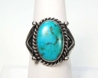 Vintage Turquoise Ring Sterling Silver Ring Turquoise Silver Ring Sterling Turquoise Ring Sterling Silver Native American Turquoise Ring