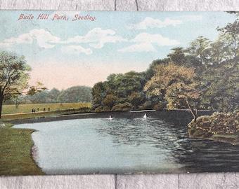 vintage postcard, vintage cards, vintage buile hill park seedley postcard, seedley postcard,