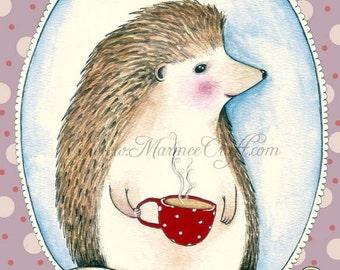 """MarmeeCraft art print, """"Monsieur Hedgehog"""""""