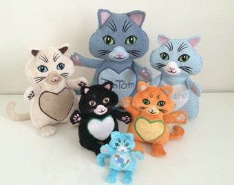 TimTom the Cat and Family - Machine Embroidery ITH - 4x4, 5x7, 6x10, 7x12 and 8x14 hoop - Vp3. Vip, Pes, Hus, Exp,  DST,  XXX & Jef formats.