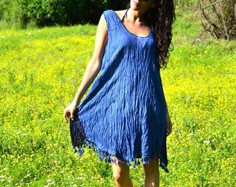 Blue summer dresses, women's dresses, dress for women, blue tops, womens dresses, cotton dresses, cotton tops, blue women, festival dresses