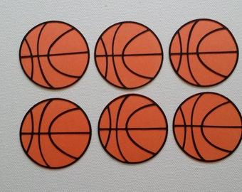 Basketball Die Cut set of 6