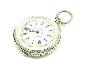 Antique Pocket Watch | Victorian Pocket Watch | 1882 Pocket Watch | Sterling Silver Pocket Watch | English Pocket Watch