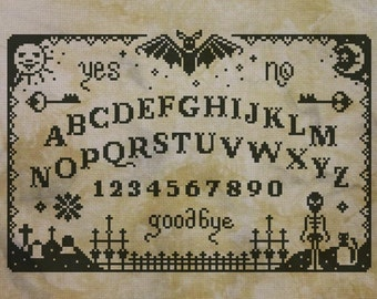 Primitive Ouija Board - PDF cross stich pattern