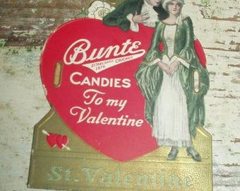 Vintage Bunte Candies Chicago Advertising Valentine package Decoration
