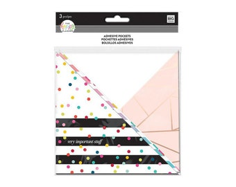 The Happy Planner Adhesive Pocket - Rainbow Stripe