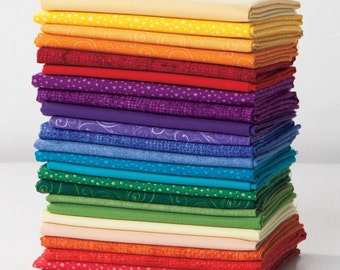 NEW Best Price! Quilter's Candy Color Wheel Fat Quarter Sampler, 100% Cotton fabrics, comes with a Bonus Free Pattern - FAST SHIPPING!!!